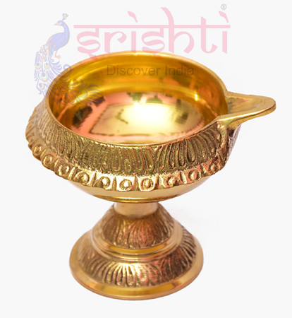 SKBU-Brass Kubera Diya with Stand-M04 USA & CANADA