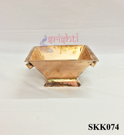 SKPU-Copper Havan Kundam with Stand-M02