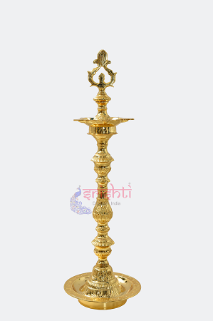 SKBU-Brass Kuthuvilakku-27 Inches (Gold Plated)