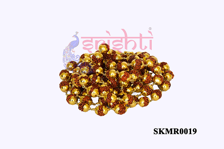 SRRK-Rudraksha Mala with Pure Gold Plated-108 Beads-GC01