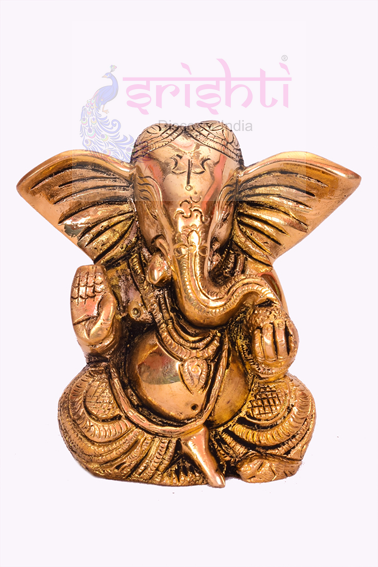 SSBU-Brass Ganesha Statue Model 8