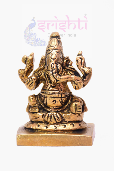 SSBU-Brass Ganesha Statue Model 9