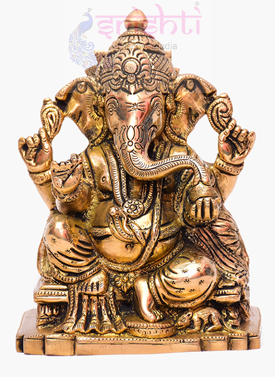 SSBU-Brass Ganesha Statue Model 12