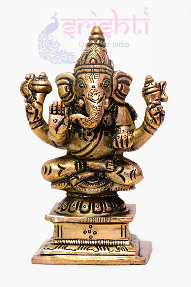 SSBU-Brass Ganesha Statue Model 14