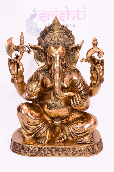 SSBU-Brass Ganesha Statue Model 3 USA & CANADA