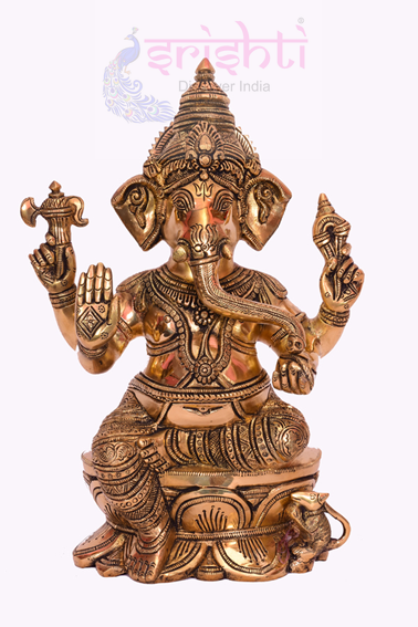 SSBU-Brass Ganesha Statue Model 4 USA & CANADA