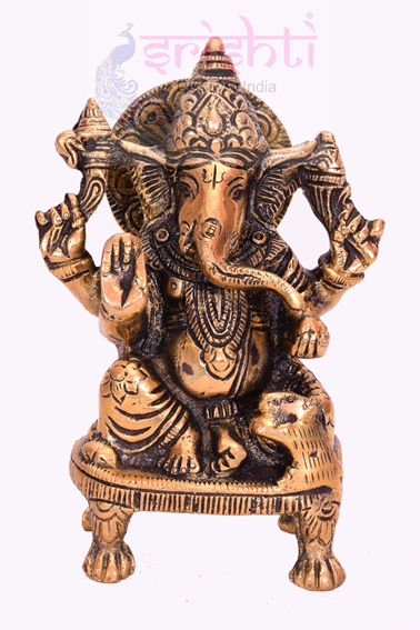 SSBU-Brass Ganesha Statue Model 5 USA & CANADA