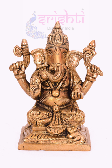 SSBU-Brass Ganesha Statue Model 6 USA & CANADA