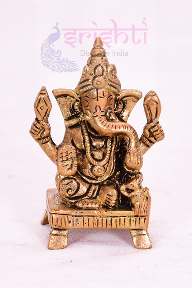 SSBU-Brass Ganesha Statue Model 7 USA & CANADA