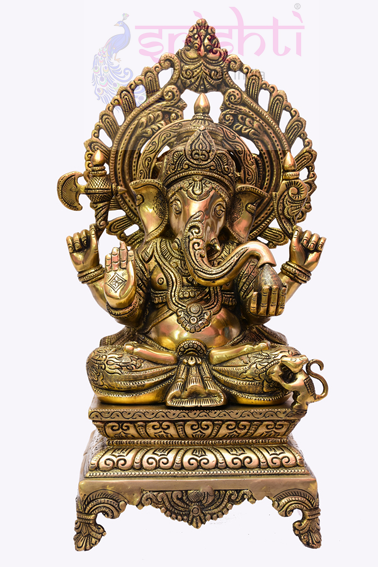 SSBU-Brass Ganesha Statue Model 10 USA & CANADA