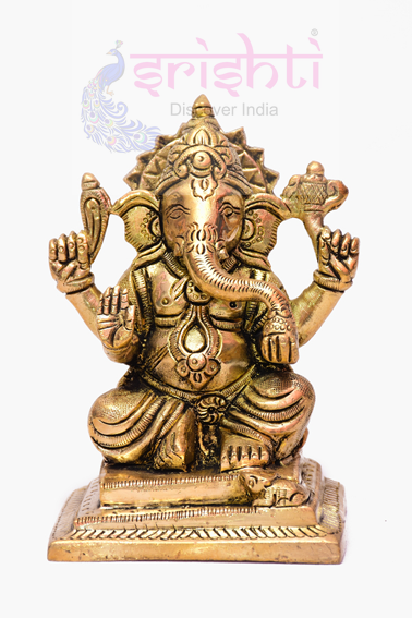 SSBU-Brass Ganesha Statue Model 11 USA & CANADA