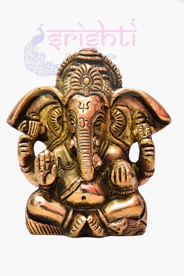 SSBU-Brass Ganesha Statue Model 13 USA & CANADA