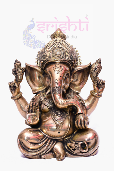 SSBU-Brass Ganesha Statue Model 15 USA & CANADA