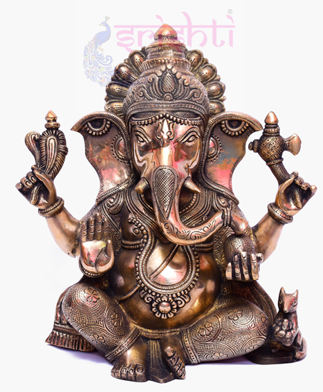 SSBU-Brass Ganesha Statue Model 16 USA & CANADA