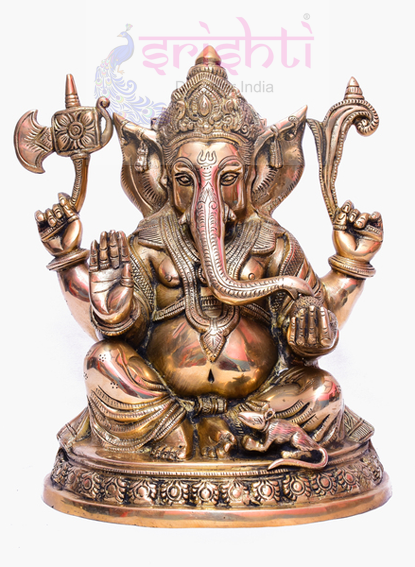 SSBU-Brass Ganesha Statue Model 17 USA & CANADA
