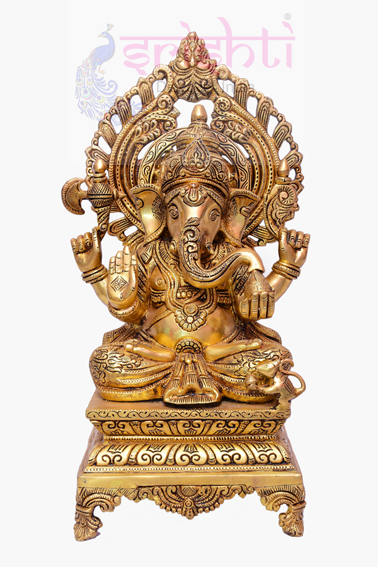 SSBU-Brass Ganesha Statue Model 18 USA & CANADA