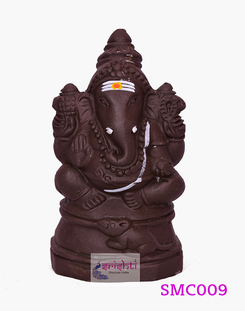 SMVC-Eco-Friendly Clay Baby Ganesha-4.5 Inches USA & CANADA