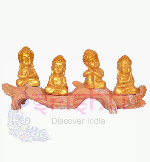 SDGU-Tree Buddha (Set of 4)-5.5 Inches
