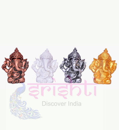 SDGU-Ganesh Set of 4 (Multi Color)-2 Inches USA & CANADA