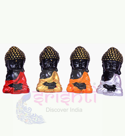 SDGU-Buddha Set of 4 (Black)-2 Inches USA & CANADA