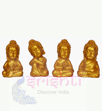 SDGU-Buddha Set of 4 (Gold)-2.5 Inches USA & CANADA