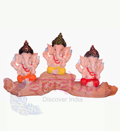 SDGU-Tree Ganesh (Set of 3)-3.5 Inches USA & CANADA