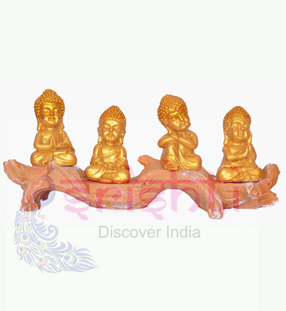 SDGU-Tree Buddha (Set of 4)-5.5 Inches USA & CANADA