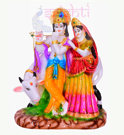 SDGU-Cow Radha Krishna-10.5 Inches USA & CANADA