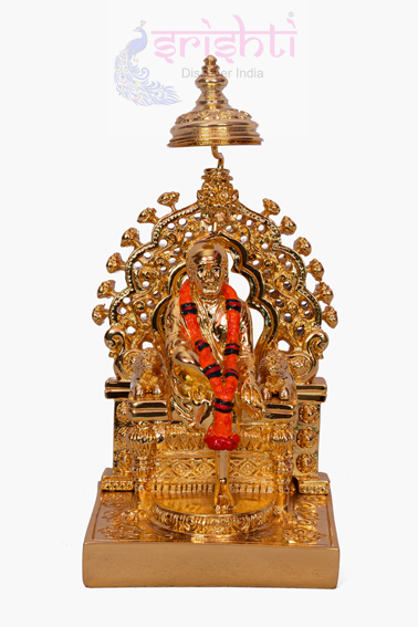 SDGU-Sai Baba With Simhasan-6 Inches