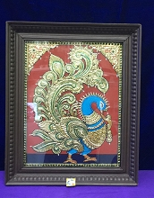 Tanjore Painting Photo frame-Peacock USA & CANADA