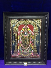 Tanjore Painting Photo Frame-Lord Balaji USA & CANADA
