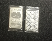 SSSD-Pure Silver Bar-5 Gms USA & CANADA