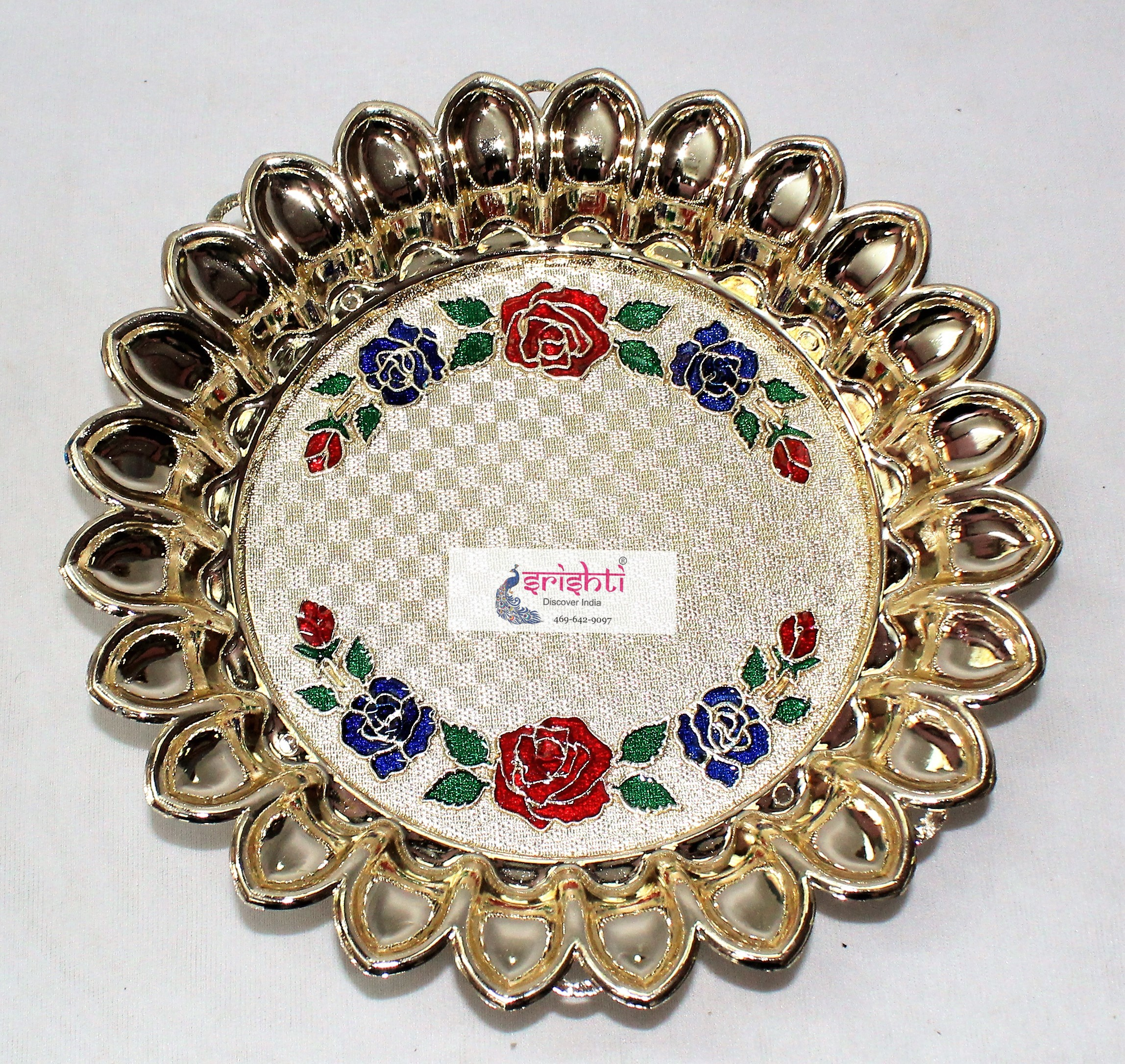 SKRG-Flower Design Thali