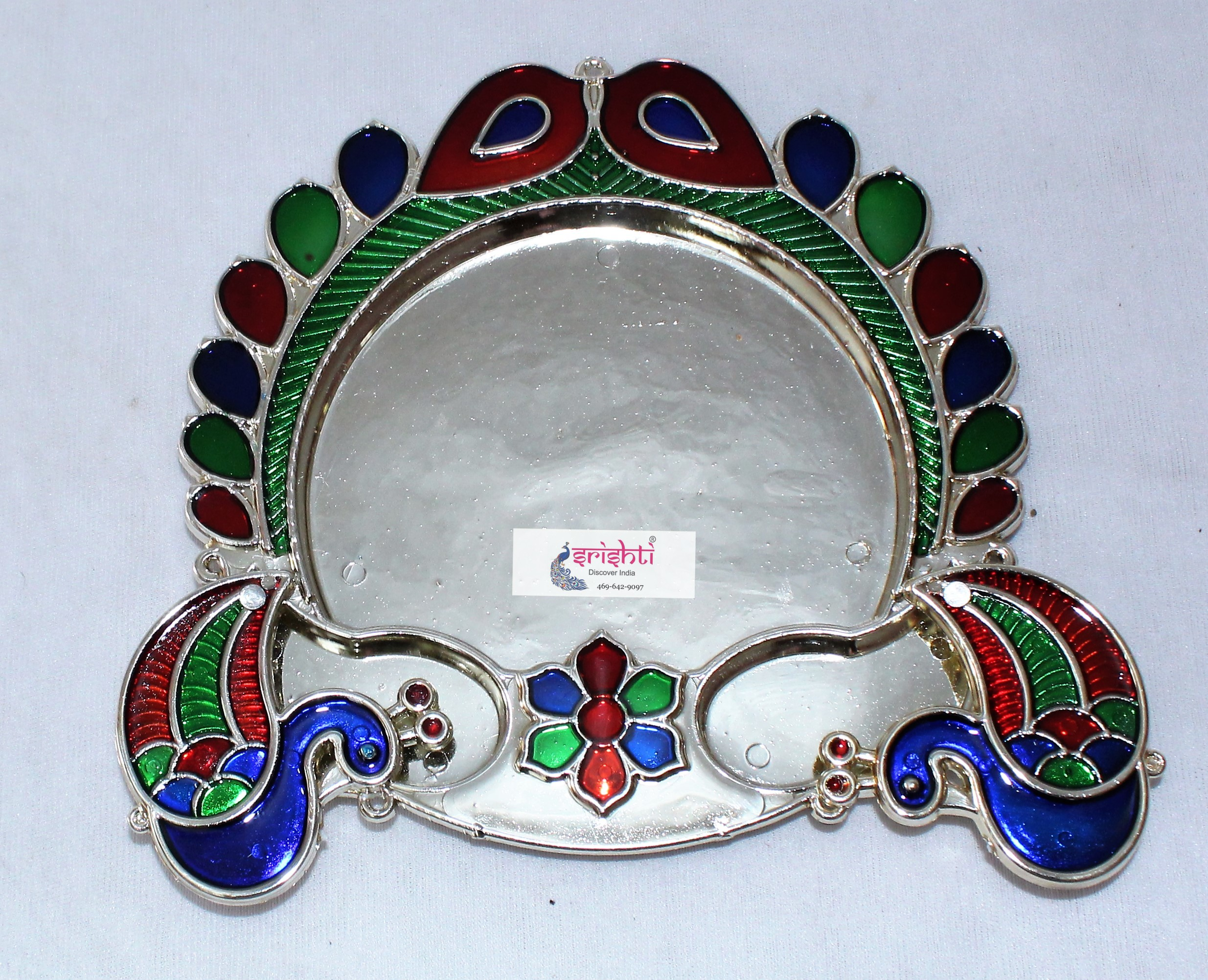 SKS Peacock Pooja Plate With Kumkum Cup