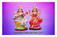 Lakshmi And Sarawathi Set 12 Inches USA & CANADA