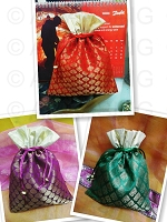 Assorted Silk Potli Bags USA & CANADA