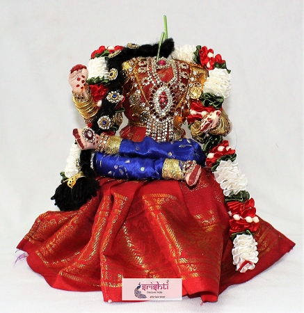 Decorated Varalakshmi Amman Dress Legs Folding Set USA & CANADA