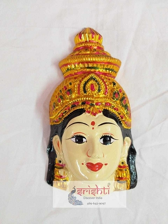 Varalakshmi Amman Face-8 Inches USA & CANADA