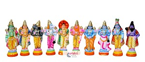SNPD-Dasavatharam Set-8.5 Inches  (SNPK0048)