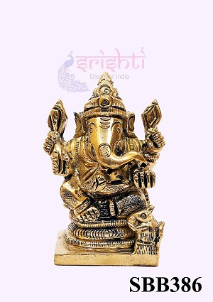 SSBU-Brass Ganesh-2.3 Inches (SBB386)