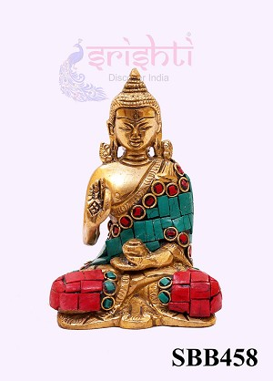 SSBU-Brass Decor Buddha-4 Inches (SBB458)