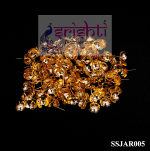 SSSG-Pure Silver Archana Flowers Gold Coated (Pack of 108)-M01 (SSJAR005)