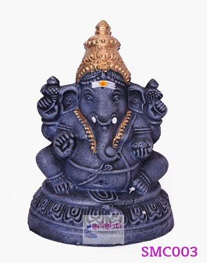 SMVC-Eco-Friendly Clay Ganesha-8 Inches (SMC003)