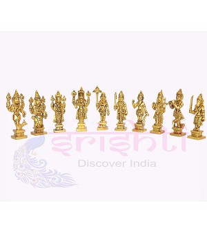 SSBU-Brass Dasavatharam Set-2.5 Inches (SBB164-A)