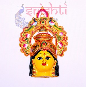 SMMC-Varalakshmi Amman Face with Peacock Crown-12 Inches (SMGC009)