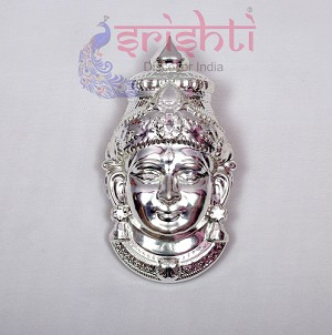SMMC-Varalakshmi Amman Face Metal Plated-7 Inches-M01 (SMGC011)