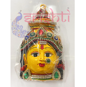 SMMC-Varalakshmi Amman Face with Stone Work-7 Inches (SMGC029)