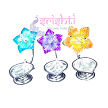 SSSD-Pure Silver Diya With Flower S01-11 Gms (SUHP188)