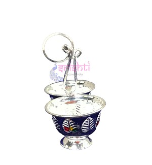 SSSD-Pure Silver Haldi Kumkum-Two Cup-M02 (SUPC156)
