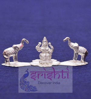 SSSD-Pure Silver Gajalakshmi with Elephant Idol (SSUJ01)